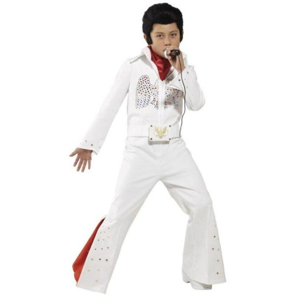 Elvis Barnekostyme Hvit - L
