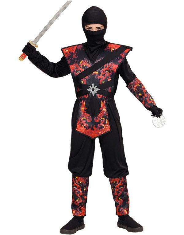 Flammedrage Ninjakriger Barnekostyme