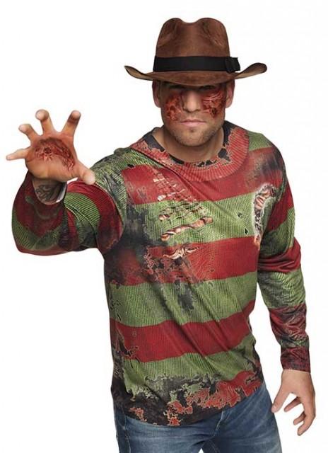 Fotorealistisk Skjorte Freddy Krueger L