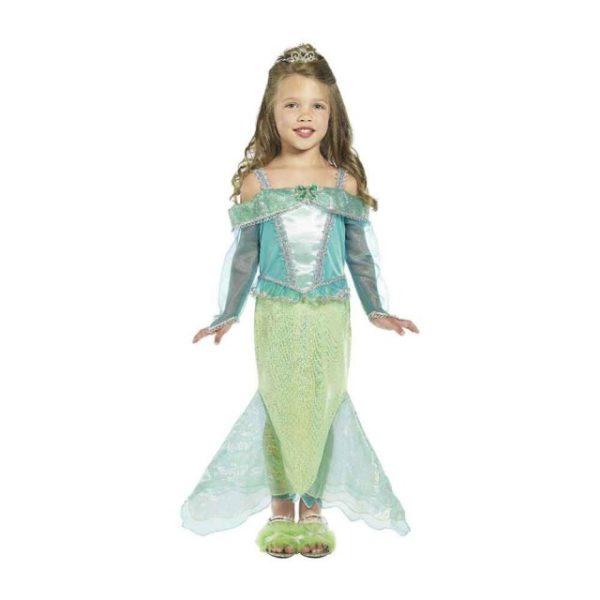 Havfrue Prinsesse Barnekostyme S