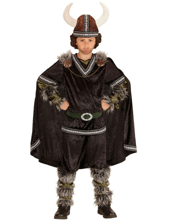 Herskende Viking - Komplett Barnekostyme med Hatt