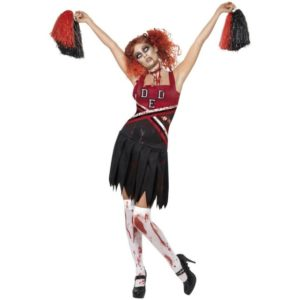 High School Horror Cheerleader Kostyme - XS