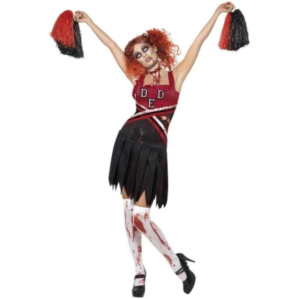 High School Horror Cheerleader Kostyme - XS