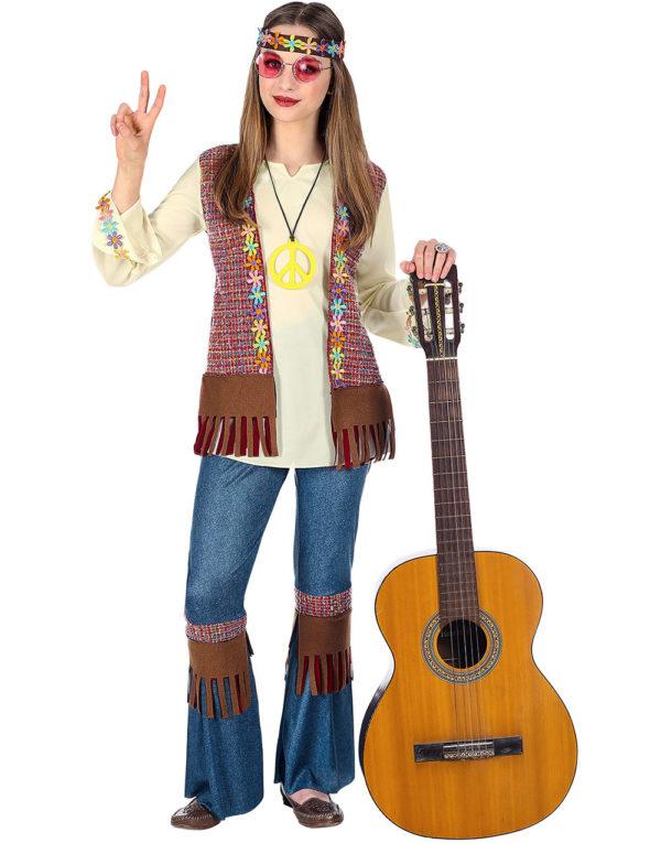 Hippie Barnekostyme til Jente