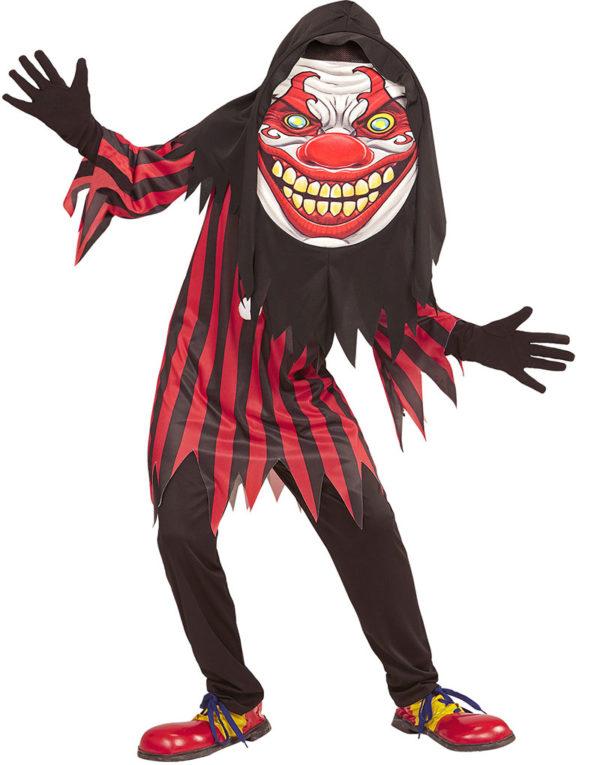 Horror Clown - Barnekostyme med Maske