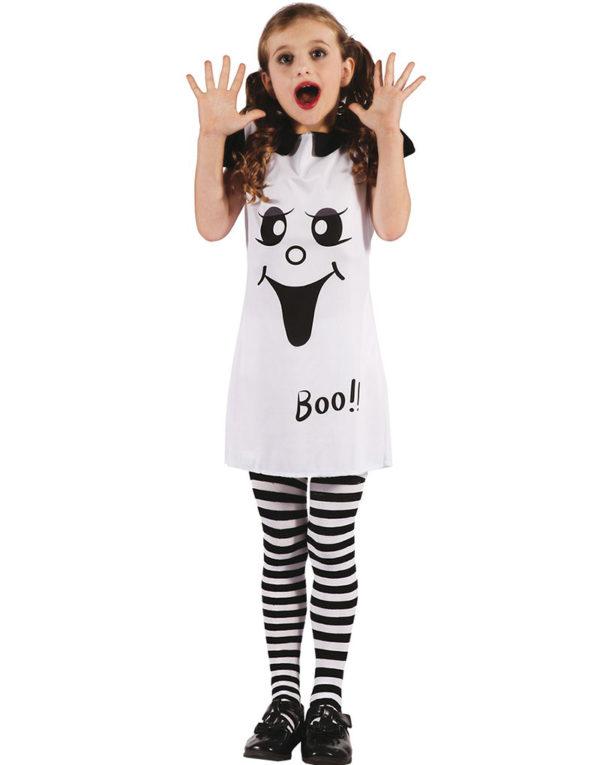Hvit Spøkelsekjole Barnekostyme