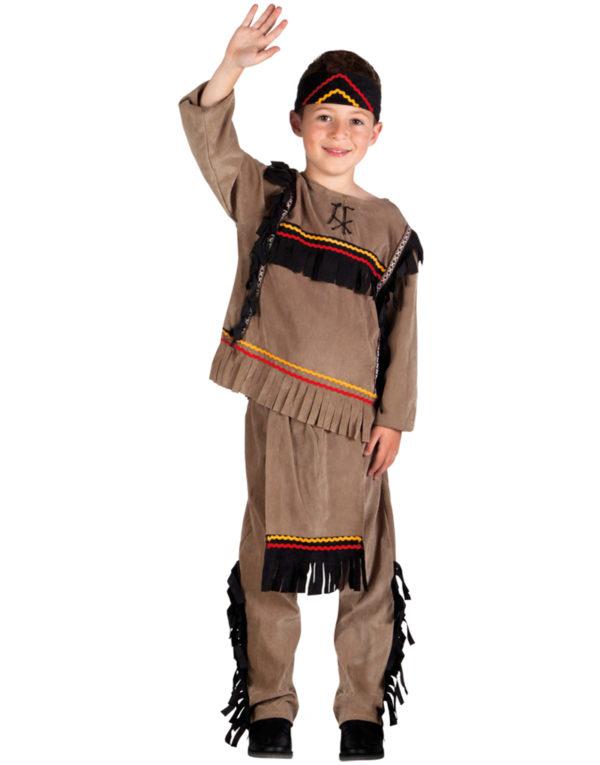 Indianerhøvdingen Store Bjørn Barnekostyme