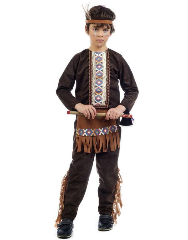 Indianerkrigeren - Barnekostyme til Gutt