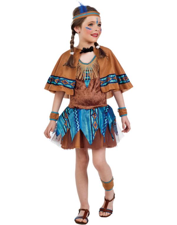 Indianerstammens Skjønne Jente - Luksus Barnekostyme