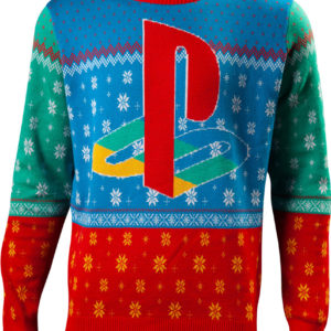 Lisensiert Lys Blå Tokyo PlayStation Julegenser