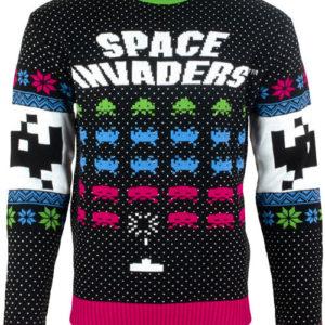 Lisensiert Strikket Space Invaders Julegenser