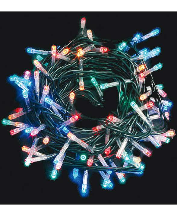 Lysslynge med 50 Flerfarget LED-Lys og 8 Lyskombinasjoner - Innendørsbruk 5 meter