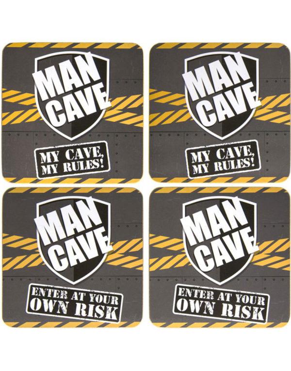 Man Cave - 4 stk Glassbrikker