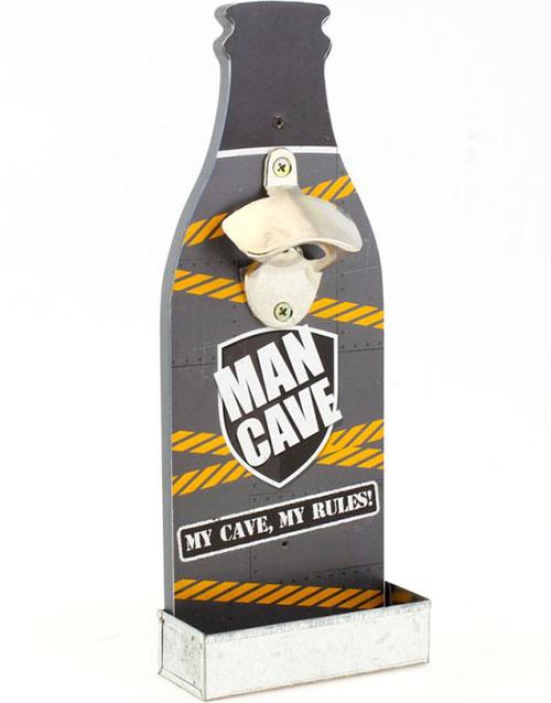 Man Cave Flaskeåpner på Veggstativ 30 cm
