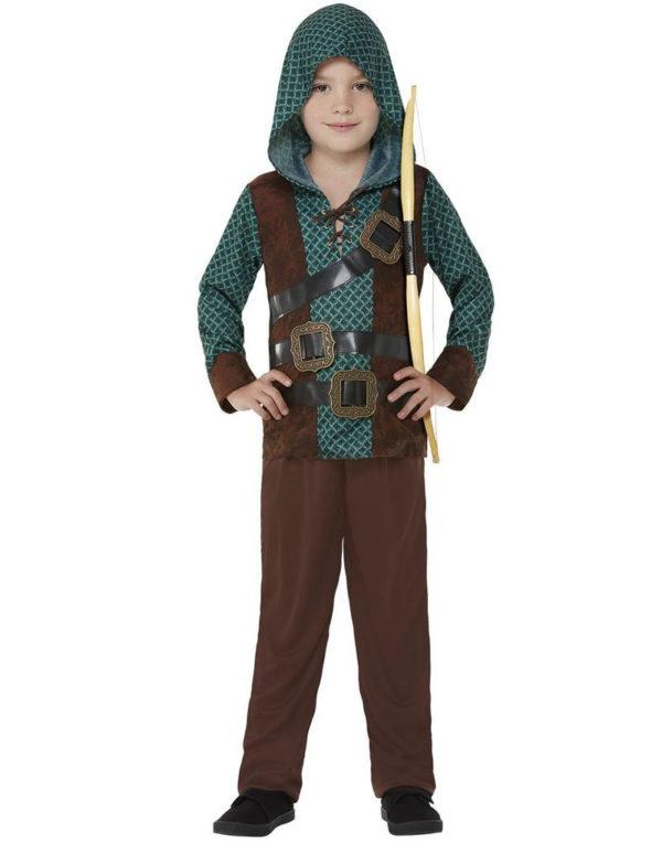 Middelaldersk Bueskytter Kostyme til Gutt
