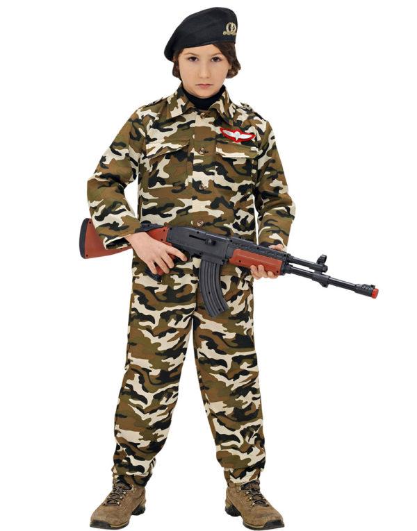 Militær Kostyme til Barn med Hatt