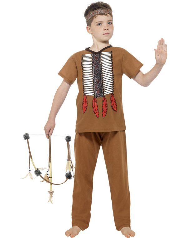 Nativ Indianergutt Barnekostyme