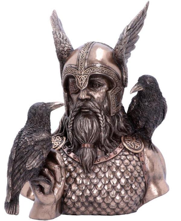 Odins Messengers - Odinfigur med Kråker 23 cm