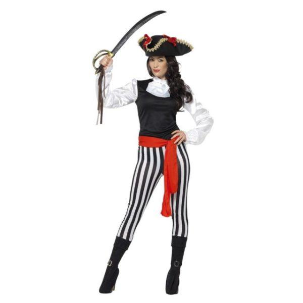 Pirat Kostyme med Tights - S