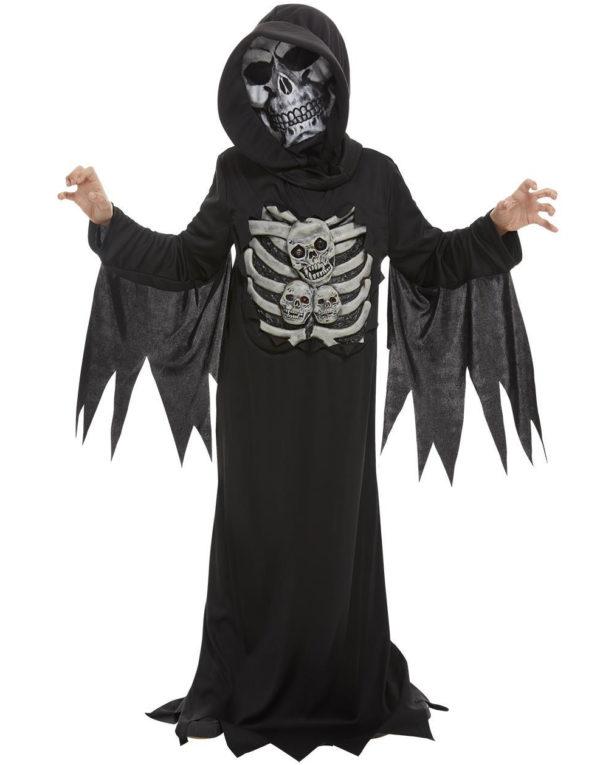 Skjelett Reaper Kostyme til Barn med Maske