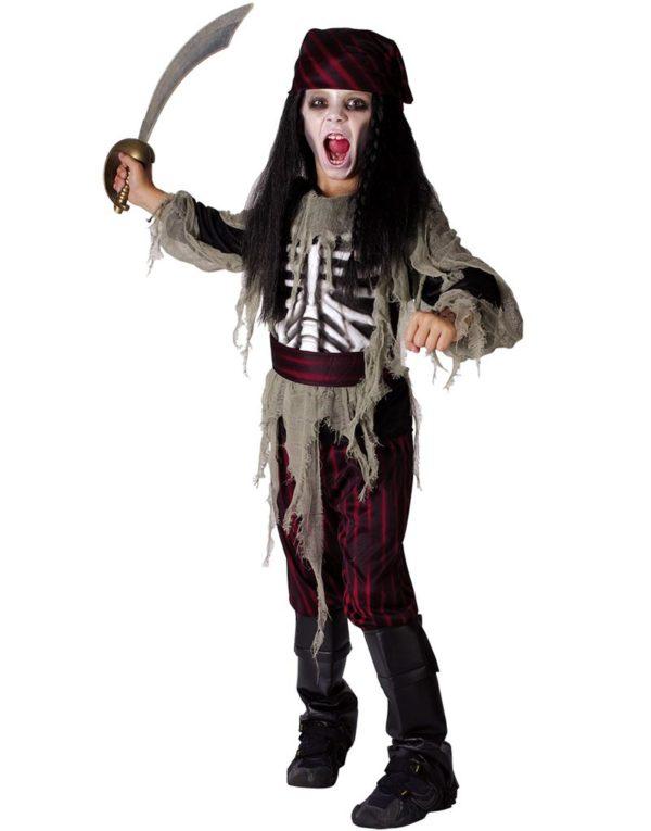 Spøkelse Piraten - Barnekostyme