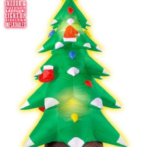 Stort Oppblåsbart Juletre med LED-Lys 183 cm
