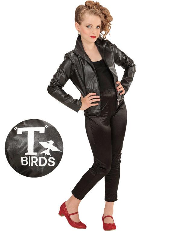 T-Bird Inspirert Grease Barnekostyme til Jente 2 Deler