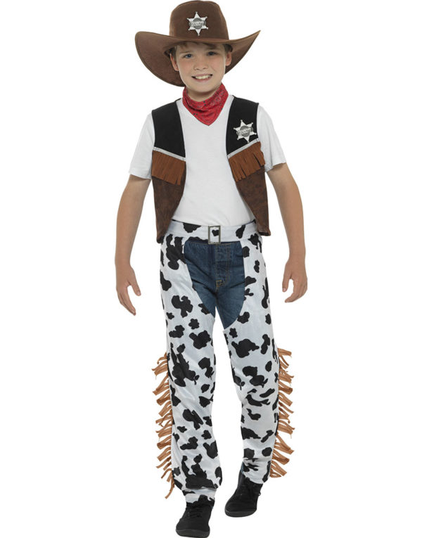 Texas Cowboy Barnekostyme 5 Deler