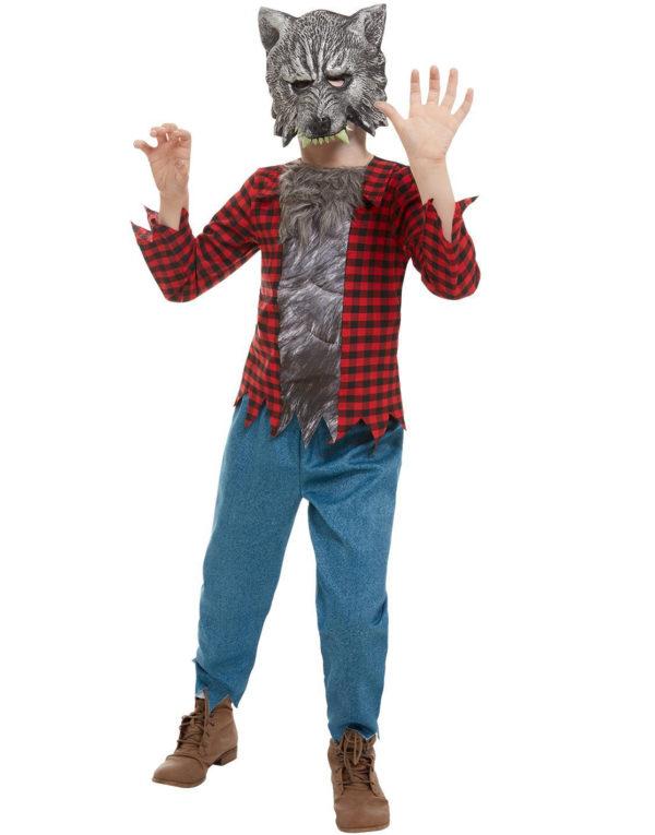 Varulvkostyme til Barn med Maske