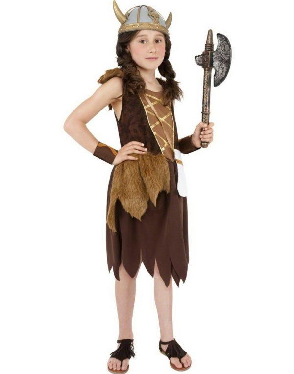 Viking Jente Barnekostyme
