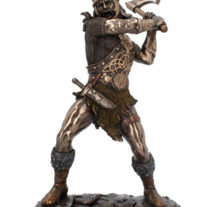 Vikingen Går Berserk - Bronsefarget Figur 28 cm
