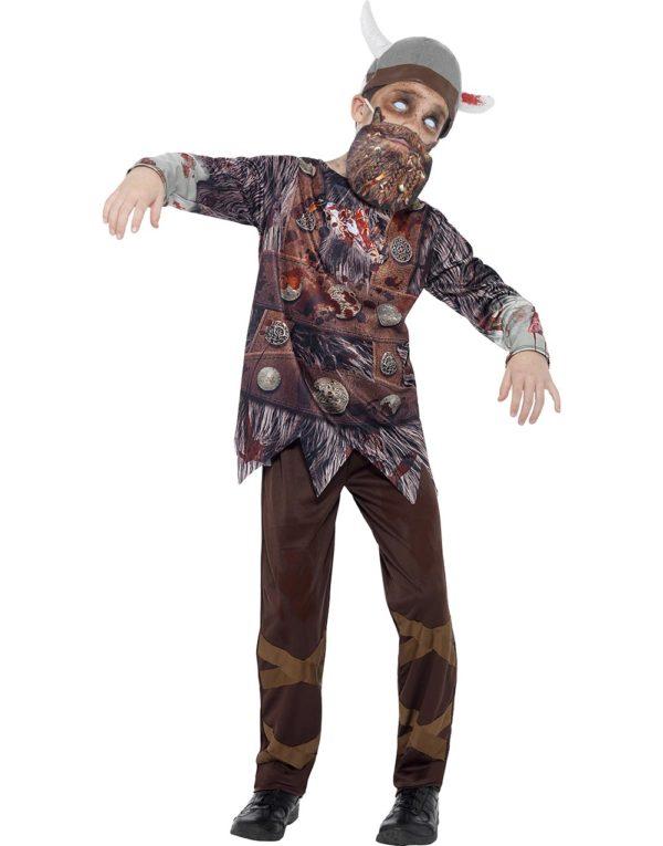 Zombie Viking Barnekostyme