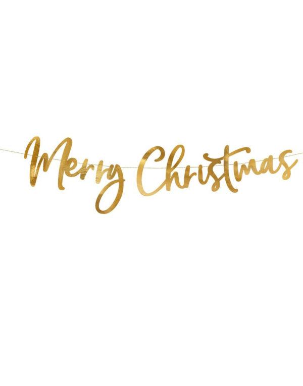 Gullfarget Merry Christmas Banner 83 cm