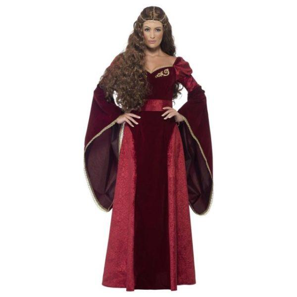 Middelalder Dronning Kostyme - M