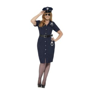 Politi Kostyme Kvinne NYC Cop - X3