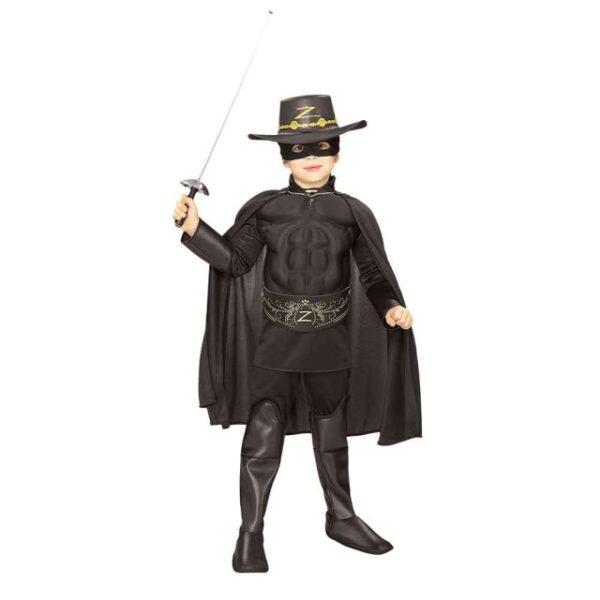 Zorro Deluxe Barnekostyme L