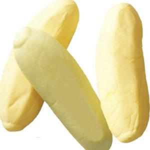 1 kg Boks med Sukkerfri Gule Skumbananer