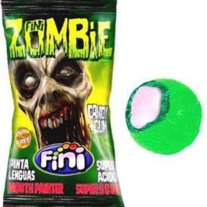 1 stk Fini Zombie Super Sour Bubblegum / Ekstra Surt Sukkertøy med Tyggegummi Kjerne