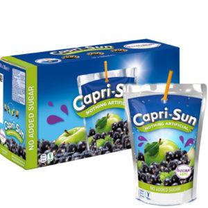 10 x 200ml Capri Sun Eple og Solbær (capri sonne)