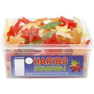 120 stk Haribo Starfish - Boks med Stjerneformet Vingummi