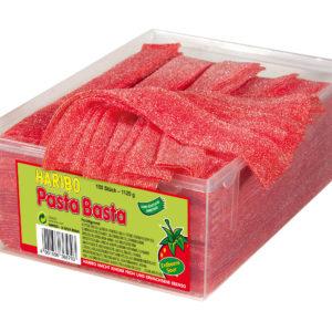 150 stk Haribo Pasta Basta Fizz / Sure Jordbær Vingummi Strimler 1100 gram