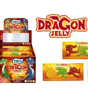 22 stk Vidal Dragon Jelly / Store Drage-Gelegodteri - Hel Eske