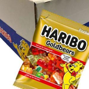 24 Poser Haribo Goldbears / Gummibjørner - Hel Eske