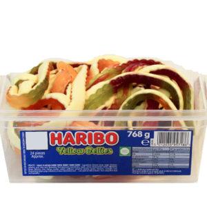 24 stk Haribo Yellow Bellies - Boks med Vingummi Slanger