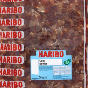 3 kg Haribo Happy Cola Bottles - STOR Pose med Vingummi Flasker