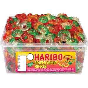 300 stk Haribo Friendship Rings - Boks med Vingummi Ringer