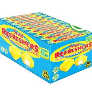 36 stk Swizzels Refreshers Chew Blocks med Sitronsmak