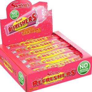60 stk Swizzels Refreshers Chew Bar med Jordbærsmak 18 gram - Hel Eske