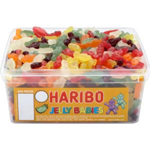 600 stk Haribo Jelly Babyes - Boks med Vingummi Godteri