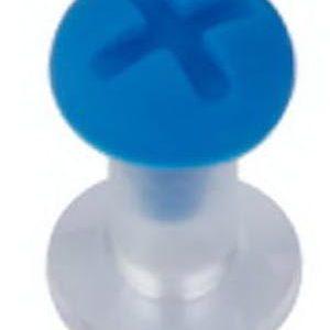 Bolt - Blå Piercing Plugg